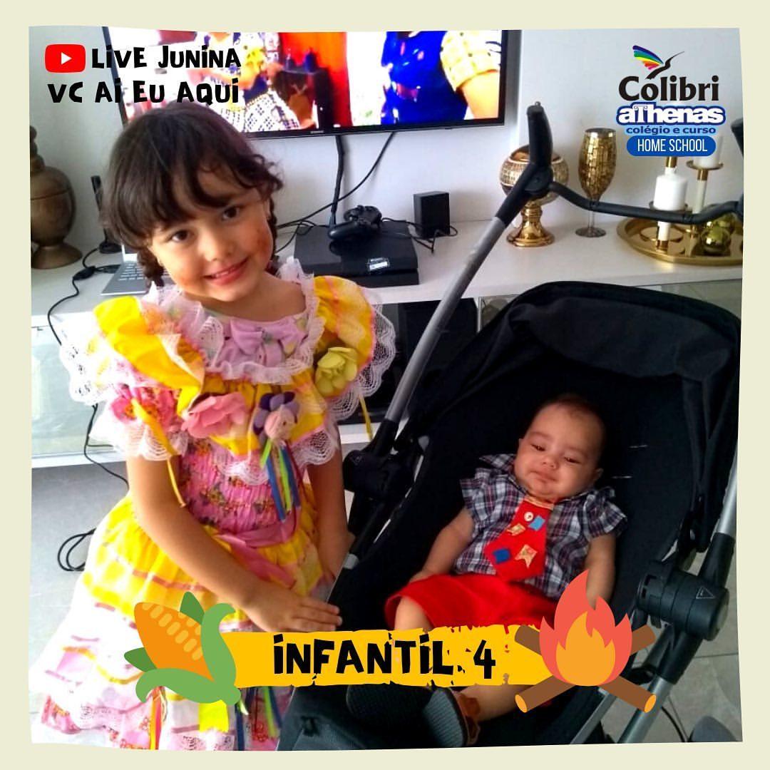 🌽 ARRAIÁ do Colibri Athenas 🔥 Home School #Infantil4 #LiveJunina #VcAiEuAqu