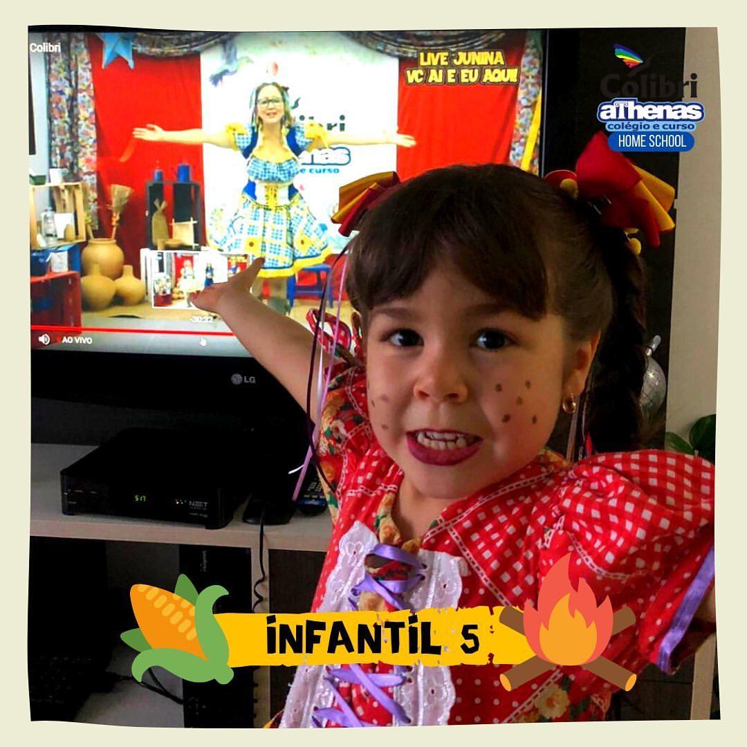 🌽 ARRAIÁ do Colibri Athenas 🔥 Home School #Infantil5 #LiveJunina #VcAiEuAqui